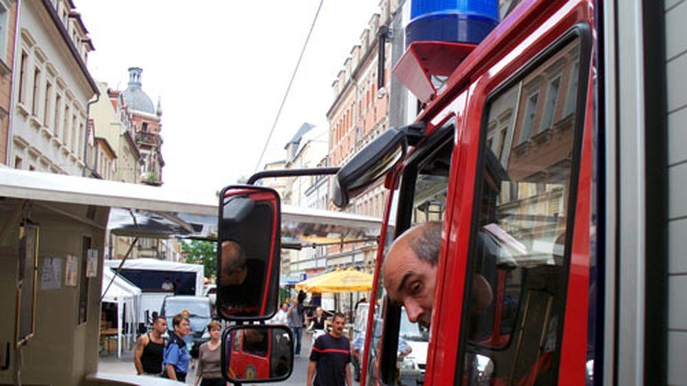 Feuerwehr im Stau