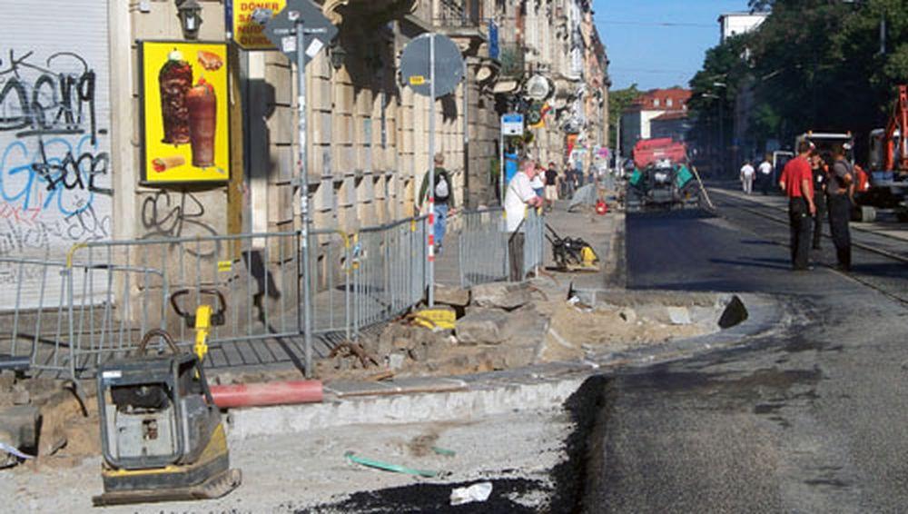 Baustelle Alaunstraße.