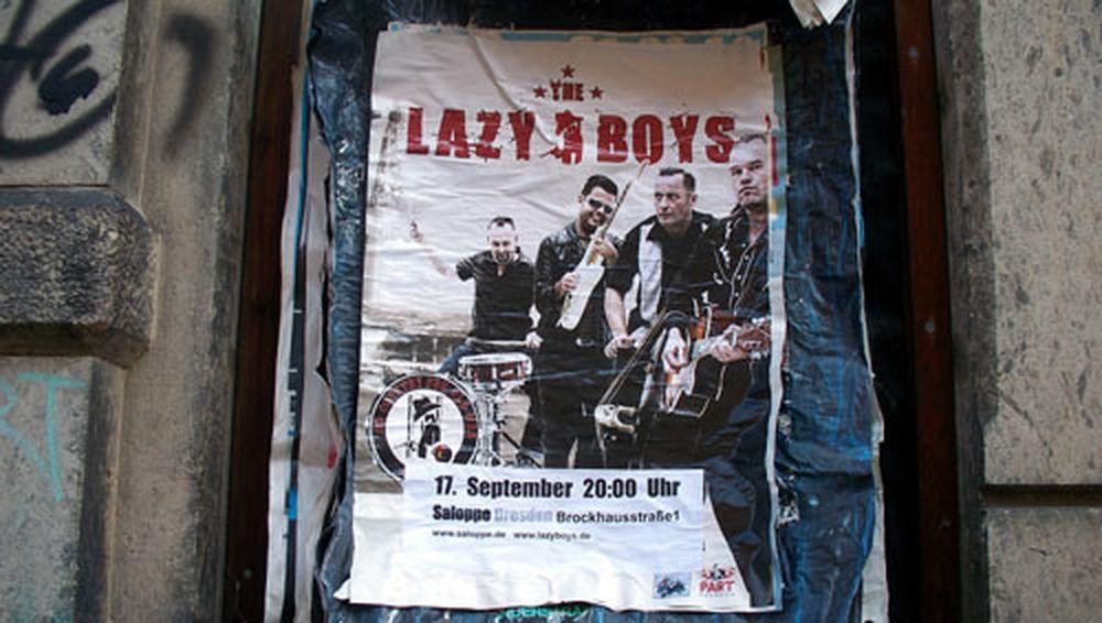 Lazy Boys in der Saloppe.