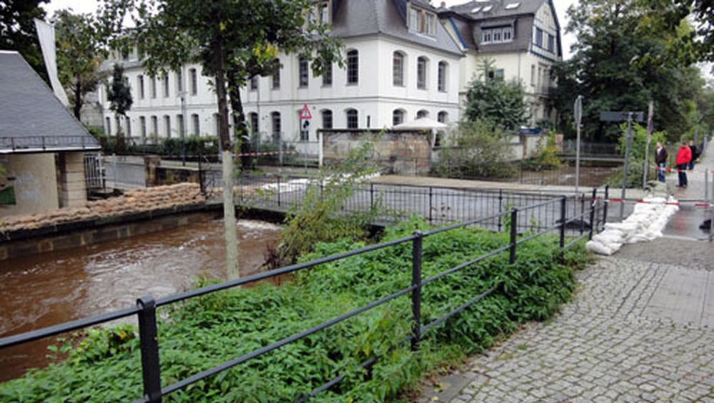 Hochwasserschutz an der Prießnitzstraße