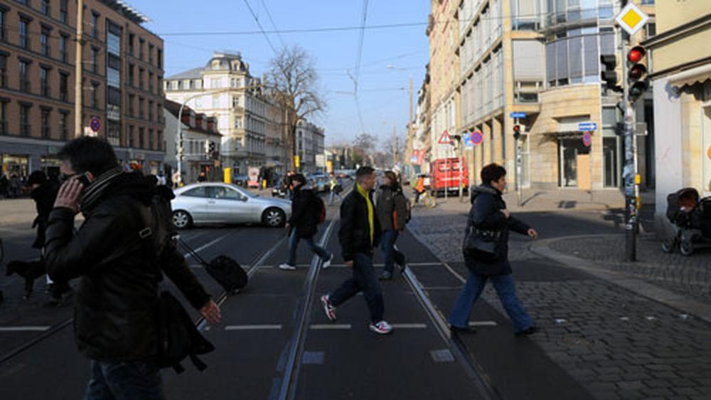 Königsbrücker Straße am Nachmittag