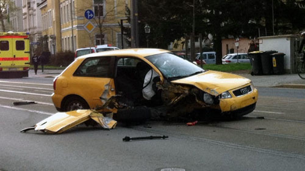 Nach dem Unfall - vielen Dank an Pierre für das Foto.