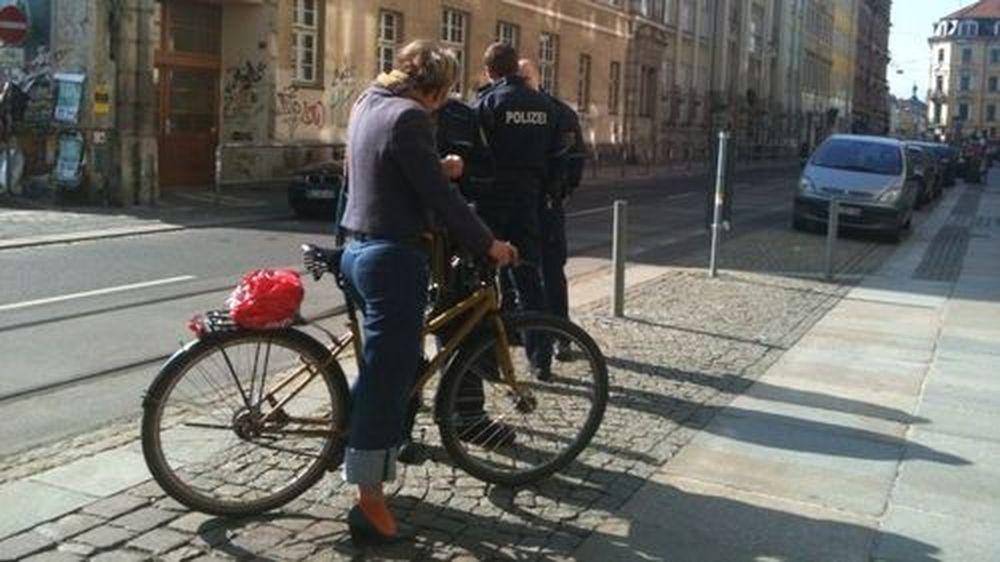 Radfahrerkontrolle auf der Görlitzer - danke an Pauly für den Tipp und das Bild.