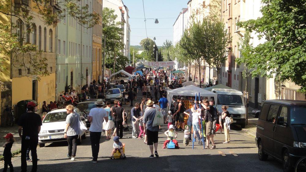 §129 Solidaritäts-Transparent auf  dem Ottostraßenfest