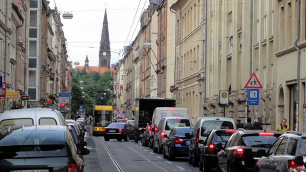 Stau auf der Görlitzer Straße
