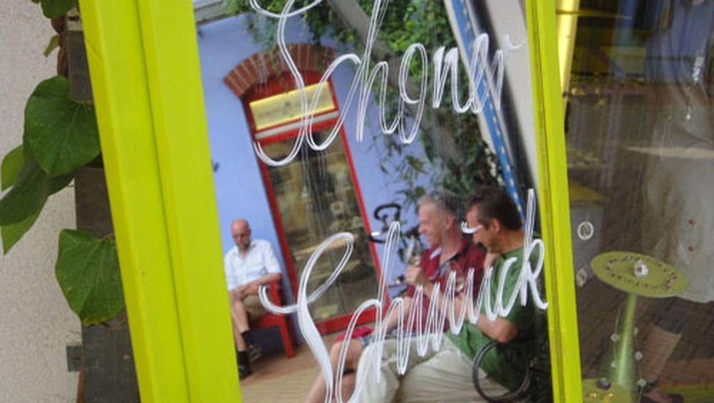 Touristen im Spiegel