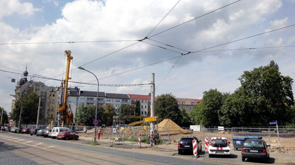 Baustelle Parkhaus Bautzner Straße